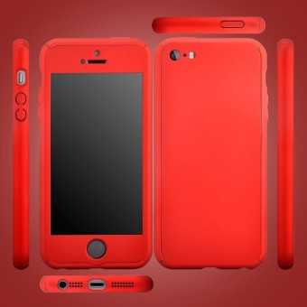 ... 360 Degree Full Body Protect Hard Slim Case Cover with TemperedGlass for iPhone 5/5S ...