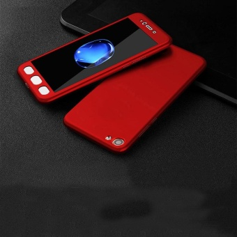360 Degree Full Body Protector Casev Matte Frosted Hard PC Cover for VIVO Y55 / Y55s With Tempered Glass - intl