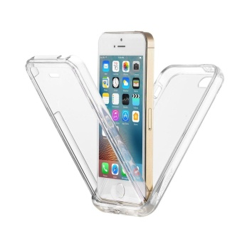 360 Degree Full Protective Rugged Transparent Clear Bumper Soft TPU Back iPhone case for Apple iPhone 5s/5/SE - intl