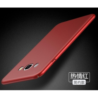 360 Degree Protective Case Ultra Thin PC Hard Case for SamsungGalaxy J7 2015(Red) - intl