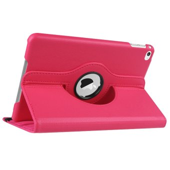 360 Degree Rotation PU Leather Case for Apple iPad mini 4 (Pink)