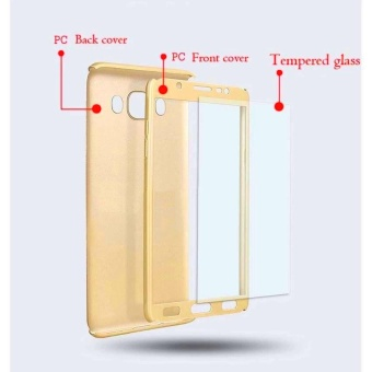 360 Full Body Coverage Protection Hard Slim Ultra-thin Hybrid Case Cover & Skin with Tempered Glass Screen Protector for Samsung Galaxy J7 Prime - intl - 3
