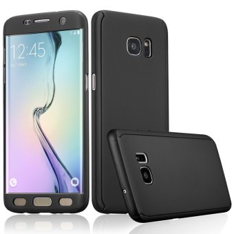 360 Full Body Coverage Protection Hard Slim Ultra-thin Hybrid Case Cover for Samsung Galaxy S6 Edge (Black) - intl