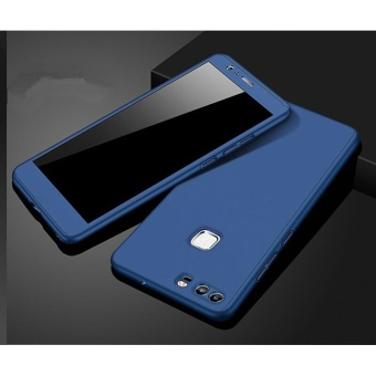 360 Full Body Coverage Protection Hard Slim Ultra-thin Hybrid CaseCover & Skin with Tempered Glass Screen Protector for Huawei P9(Blue) - intl