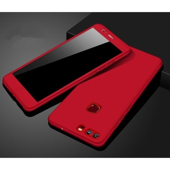 360 Full Body Coverage Protection Hard Slim Ultra-thin Hybrid CaseCover & Skin with Tempered Glass Screen Protector for Huawei P9Lite (Red) - intl
