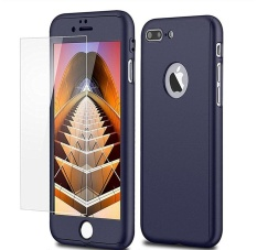 360 Full Body Protection Hard Slim Case Coated Non Slip Matte Surface with Tempered Glass Screen