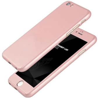 360 Full Cover Case with Tempered Glass For iPhone 5G/5S/5C/SE(Rose Gold)
