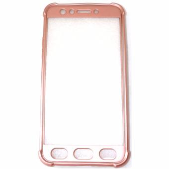 360 Full Cover Protective Shockproof PC+TPU Case for Oppo F3 (RoseGold)