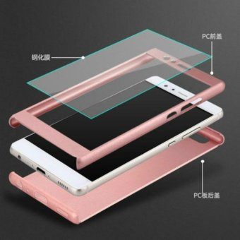 360 Full Hard Cover for HuaWei P9 PC Back Anti-knock Phone Bags Cases +Toughened Glass For HuaWei P9 Lite - intl - 5
