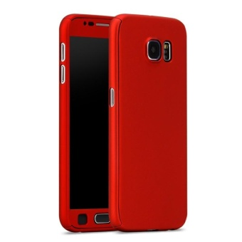 360 Full protection Case for Samsung Galaxy S6 Edge (Red)