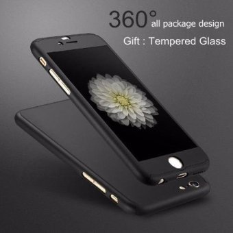 360 Fullprotection Cover Case for Iphone 6 / 6s (Black)