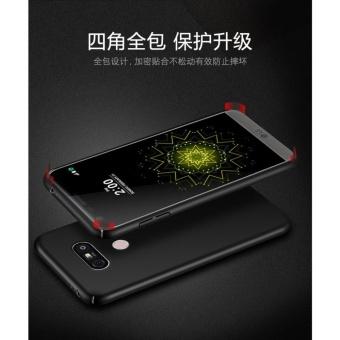 360 ultra-thin matte PC hard Cover Case For LG V20 (Black+Bear ring) - intl - 2