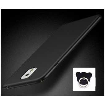 360 ultra-thin matte PC hard Cover Case For S amsung GalaxyNote3(N9006(Black+Bear ring) - intl