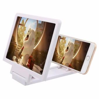 3D Enlarged Screen Glass Magnifier (White) Price Philippines