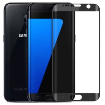 3D Full Cover Curved Tempered Glass Screen Protector For SamsungGalaxy S6 Edge (Black)