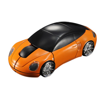 3D Wireless Optical 2.4G Car Shaped Mouse Mice 1600DPI USB For PC laptop Orange Price Philippines