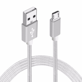 3M Nylon Braided Micro USB 2.0 Android Charging Cord for AndroidSamsung Galaxy S7/S6/S5/Edge Note 5/4/3 Nexus HTC - intl