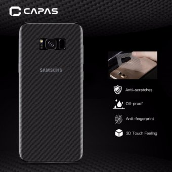 3x CAPAS 3D Carbon Fiber Back Protectiv Film For Samsung Galaxy S8Clear Back Protector - intl