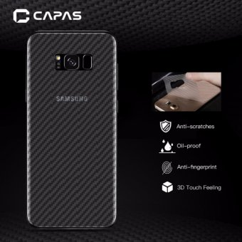 3x CAPAS 3D Carbon Fiber Back Protectiv Film For Samsung Galaxy S8Plus Clear Back Protector - intl