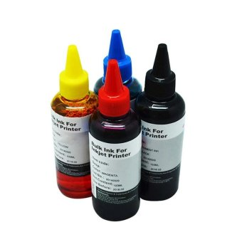 4 bottle of UNIVERSAL Printer Refill Ink / Refill Dye Ink Bottle ( BLACK/CYAN/ MAGENTA /YELLOW) 100 ml each For Brother / Canon / Epson / HP Printer for CISS System Ink Refill Bulk Ink - intl