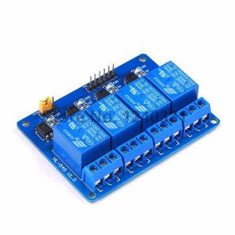 4 Channel Relay Module 5V for Arduino (Blue)