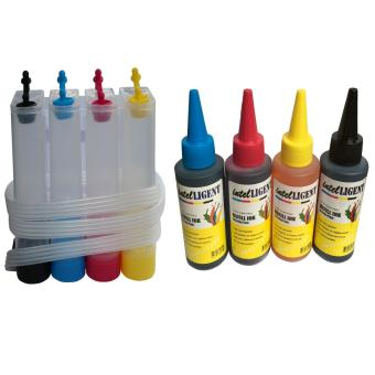 4 Colors CISS DIY Kit Ink Tank ANDUniversal Dye Ink 100ml Set of 4(Black, Cyan,Magenta,Yellow) High quality
