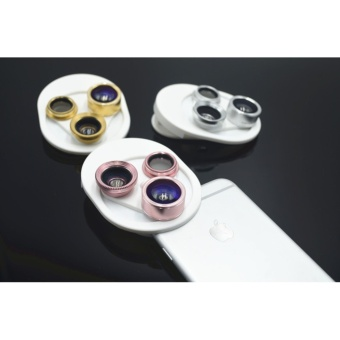 4 in 1 Universal 198?Fisheye Lens & 15XMacro Lens & 0.63XSuper Wide Angle Lens, Clip on Cell Phone Lens Camera Lens Kits foriPhone & Most Smartphones - intl - 4