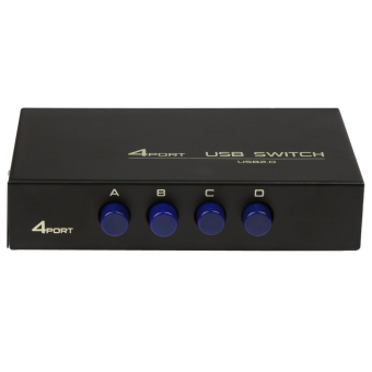 4 Ports USB 2.0 Sharing Switch Adapter Box For PC Scanner Printer -intl - 4