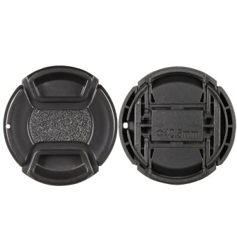 40.5mm Center Pinch Snap-on Lens Cap Cover Keeper Holder for Canon Nikon Sony Olympus DSLR Camera Camcorder - Intl - 3