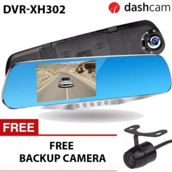 4.3 inch LCD 1080p dual lens with LED Car DVR two camera full HDdash camera recorder Dashcam DVR-XH302 H42 sensor