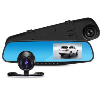 4.3'' Full HD 1080P Car Rear View Mirror DVR Dual Cameras Dashcam Video Registrator Recorder G-sensor Motion Detection Dash cam - intl