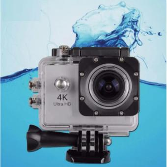 4K ULTRA HD Sports Action Camera UNDER WATER 30M WATER RESISTANT20MP 2 INCH SCREEN (Silver)