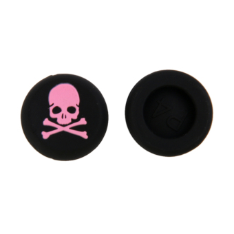 4x Pink Skull Joystick Thumbstick Caps for Sony PlayStation PS4 Controller - picture 2