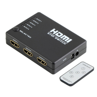 5 Port 1080P HDMI Switch Selector Splitter Hub iR Remote for HDTV -intl