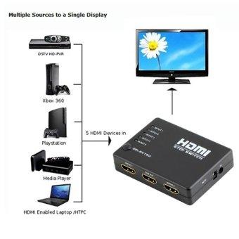 5 Port 1080P HDMI Switch Selector Splitter Hub iR Remote for HDTV - intl - 2