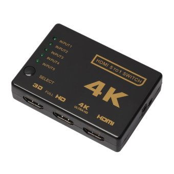 5-Port 4K HDMI Switch Selector +Remote* Connect 5 Devices to HDTV -intl