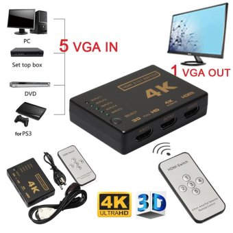 5-Port 4K HDMI Switch Selector +Remote* Connect 5 Devices to HDTV -intl - 2