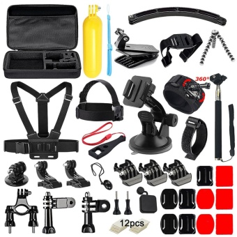 50 in 1 Action Camera Accessories Kit for GoPro Hero 5 4 3+ 3 2 1with Carrying Case/Chest Strap/Octopus Tripod - intl
