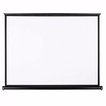 50 Inch 4:3 Pull Up Pull Down Projector Screen (Black)