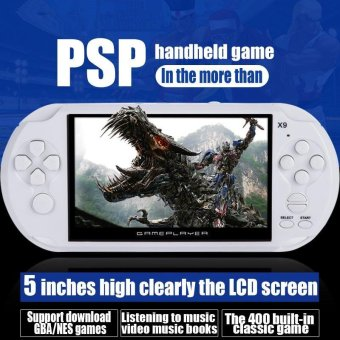 5.0 Inch 8GB Big LCD Screen PSP Handheld Game Console Built -in 400Games Support MP4 Video/Audio - intl