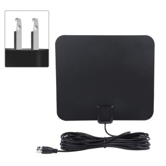 50 Miles Range High Gain Indoor Amplified Digital TV HDTV Antennawith 16ft Cable US Plug - intl