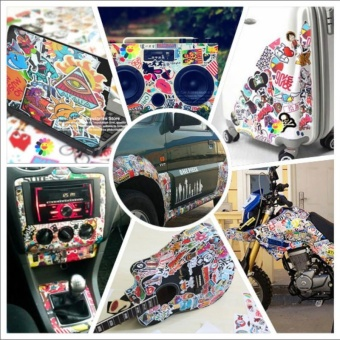 50 PCS Car Styling JDM Decal Stickers for Graffiti Car Covers Skateboard Snowboard Motorcycle Bike Laptop Sticker Accessories - intl - 2