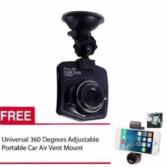 5032 Vehicle Blackbox DVR Full HD 1080 Digital Camcorder ForVehicle (Black) with Free Universal 360 Degrees Adjustable PortableCar