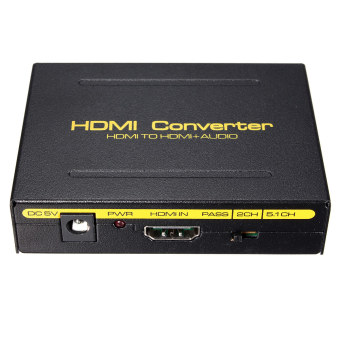 5.1CH 1080P HDMI to HDMI + SPDIF + RCA L/R Audio Splitter Extractor Converter US