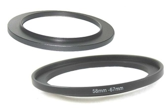 58mm-67mm 58-67 mm Step Up Filter Ring Stepping Adapter - intl