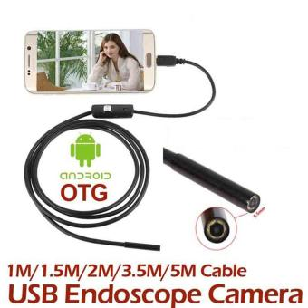 5M 7MM Android Endoscope Inspection USB Borescope LED Tube Snake Camera