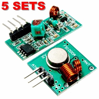 5pcs 433Mhz Receiver Module MX-05 & WL RF Transmitter MX-FS-03 For Arduino Wireless - intl