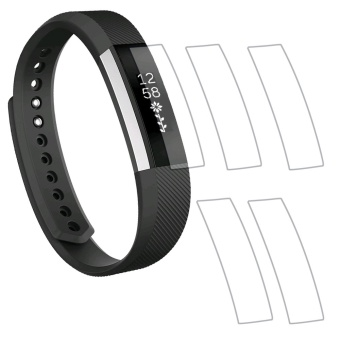 5Pcs Ultra-thin Watch Screen Protector TPU Full Coverage HD ClearAnti-bubble Explosion-proof Protect Film High Sensitivity ScratchResistance Screen Guard for Fitbit Alta HR and Alta Smart Bracelet- intl