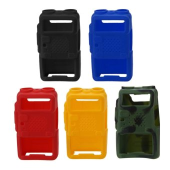 5PCS Walkie Talkie Protective Cover Rubber Soft Case For BaofengUV-5R (Blend) - intl