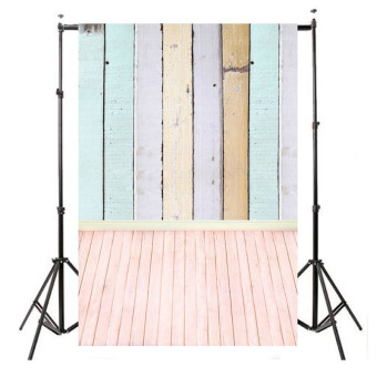5x10ft Vinyl Colorful Wooden Planks Wood Floor Photo Studio Background Backdrop
